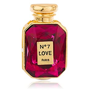JOTW Gold with Pink Stone No7 Love Potion Perfume Bottle Stretch Ring