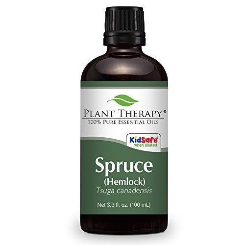 Spruce (Hemlock) Essential Oil. 100 ml (3.3 oz). 100% Pure, Undiluted, Therapeutic Grade.