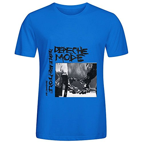Depeche Mode People Are People Ep Soundtrack Mens O Neck Short Sleeve Tee Shirts Blue (Fraggle Harness compare prices)