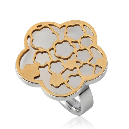 Stainless Steel Gold Jewelry Rings 2.50cm (9)