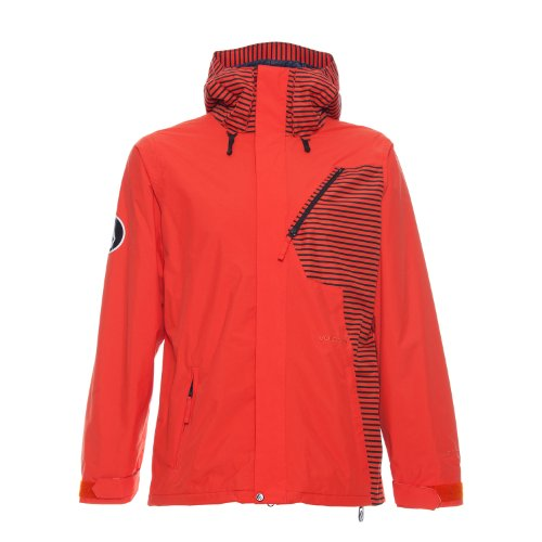Volcom Between Snowboard Jacket Orange Mens Sz M