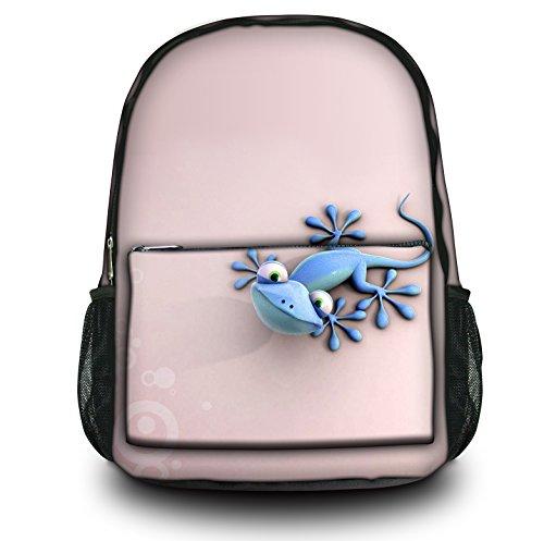 comparamus luxburg design sac dos multifonction cartable coll ge backpack motif gecko. Black Bedroom Furniture Sets. Home Design Ideas