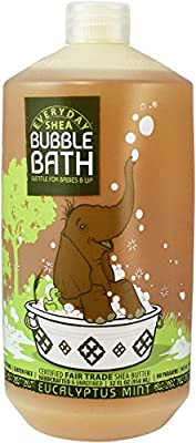 Alaffia Everyday Shea Extra Gentle Bubble Bath for Babies and Up, 32 oz
