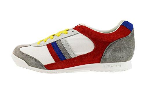 SERAFINI sneakers uomo multicolor camoscio tessuto AH740 (43 EU)