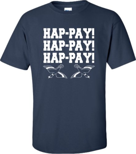 Xxxx-Large Navy Blue Adult Hap-Pay Hap-Pay Hap-Pay Happy Happy Happy Duck T-Shirt