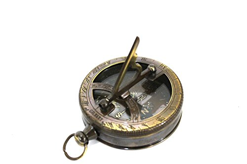 Nautical Gilbert Antique Style Pocket Compass Brass Finish 3