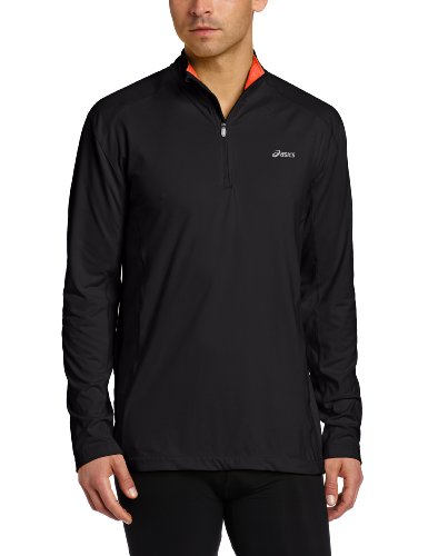 ASICS Asics Men's Jesse 1/2 Zip Top, Medium, Black/Orangeade