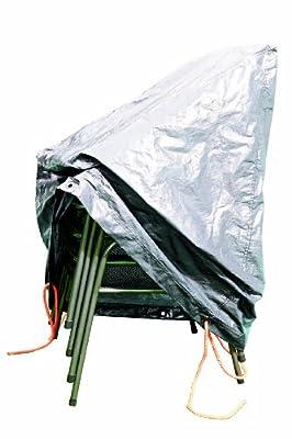 Rainexo Schutzhülle Hochreißfest für 4 Stapelbare Sessel 0.65 x 1.15 x 0.68 m, silber / grau von Rain Exo - Gartenmöbel von Du und Dein Garten