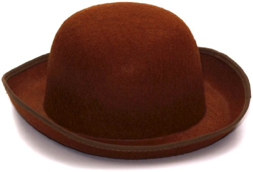 Steampunk Brown Derby Felt Hat - 1