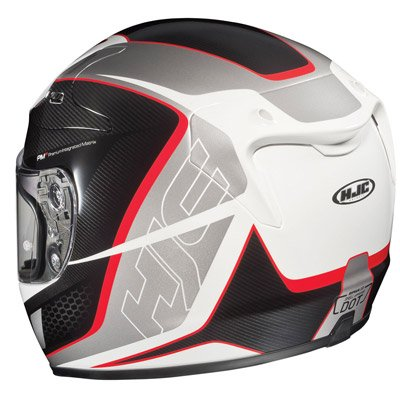 White Helmet White Cage Helmet White/black/red md
