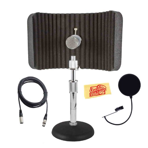 Cad As16 Acousti-Shield 16-Gauge Instrument Acoustic Enclosure Bundle With Pop Filter, Mic Cable, And Polishing Cloth