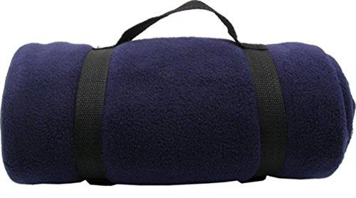 Simplicity Warm Polar Fleece Anti-Pilling Blanket-50 X 60 - Nylon Strap -Navy