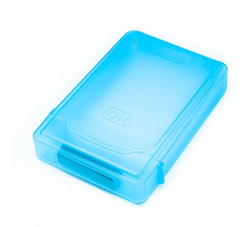 "QUMOX 3.5"" HARD DISK DRIVE HDD PROTECTION STORAGE BOX CASE TANK BLUE"