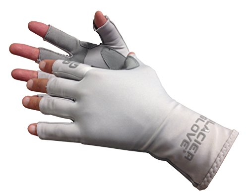 Glacier Glove Islamorada Gray Sungloves, Large (Sun Protection Fishing compare prices)