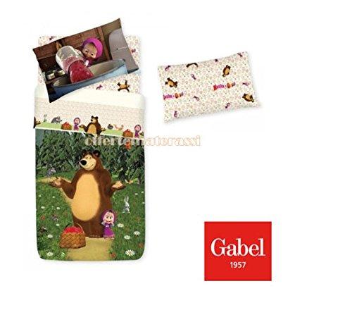 Lenzuola Gabel Masha e Orso Set Completo per lettino infanzia