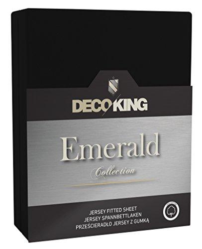 180x200-200x220-schwarz-Spannbettlaken-100-Baumwolle-Jersey-Boxspringbett-Spannbetttuch-Bettlaken-Betttuch-black-Emerald-Collection
