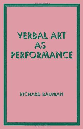 Verbal Art As Performance