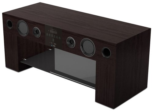 meubles tv nesx ne780w meuble tv hifi amplifi bluetooth marron. Black Bedroom Furniture Sets. Home Design Ideas