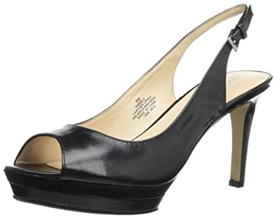 Nine West Women's Able Slingback Sandal,Black Leather,6.5 M US