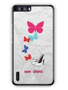 YuBingo New Shoes & Butterflies Mobile Case Back Cover for Huawei Honor 6 Plus