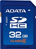 【Amazonの商品情報へ】ADATA SDHCメモリーカード 32GB Class6 BlueASDH32GCL6-R