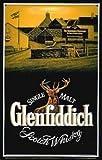 Plaque Affiche Mural Acier Estampé Glenfiddich Distillerie