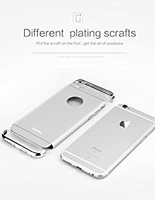 iPhone 6 case, KimHee 3 in 1 Ultra Thin and Slim Design Hybrid Case [Metal Textured Grip] Anti-Slip Skin [PC Hard Back Cover] & A Matte Touch for iphone 6 and iphone 6s by KimHee