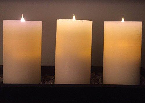 Simplux True Flame LED Candles - Set of 3