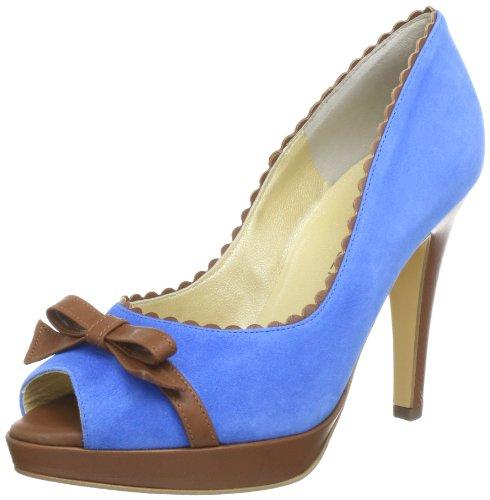 Peter Kaiser PAOLA Plateau Womens Blue Blau (SAFIR SUEDE BRANDY CORTI 498) Size: 37.5