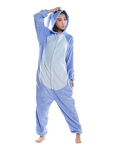 LATH.PIN - Kigurumi Stitch, Costumi di Carnevale Adulti, Pigiama Tuta Animali