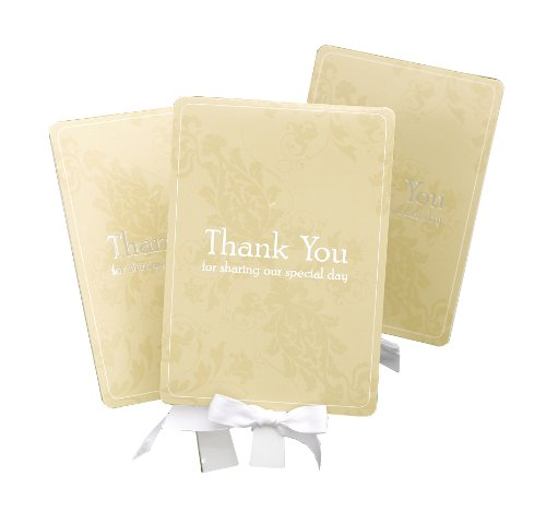 Hortense B. Hewitt Wedding Accessories Favor Fans, Gold Flourish, 25 Count