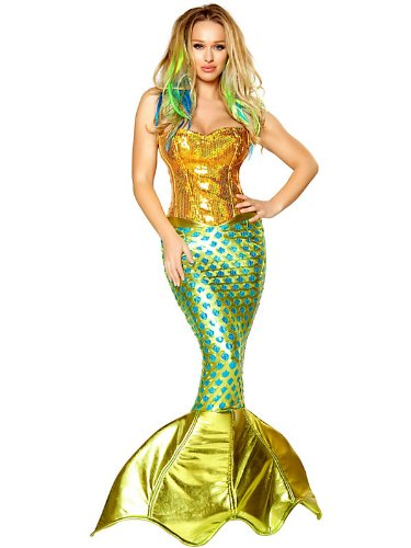 Women's Sexy Siren of the Sea Mermaid Deluxe Costume