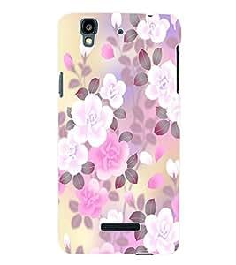 Fuson 3D Printed Flower Wallpaper Designer Back Case Cover for Yu Yureka - D883