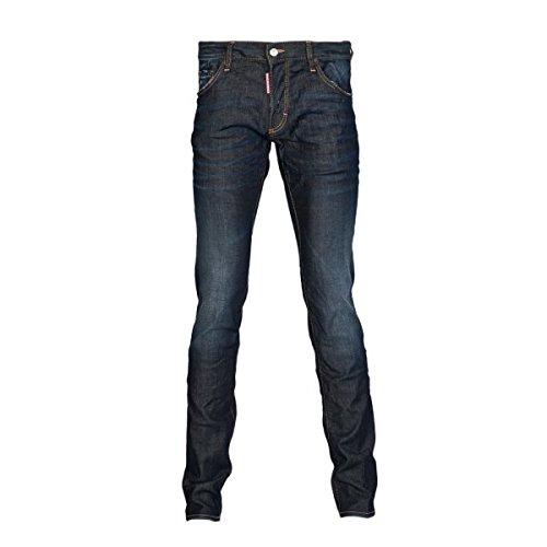 Dsquared2 Herren Slim Fit Dark Washed Denim Jeans S74la0637s30330-470 50 Indigo thumbnail