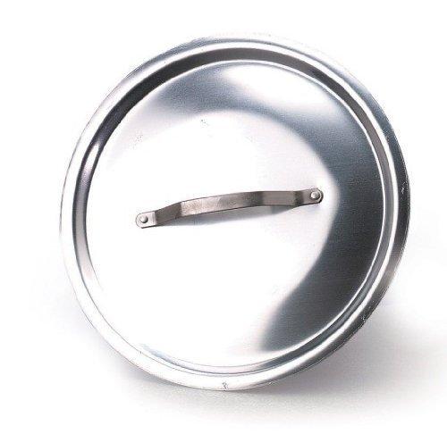 Pentole Agnelli ALMA12924 Alluminio Professionale 3 mm, Coperchio Rotondo Pesante con Ponticello, 24 cm