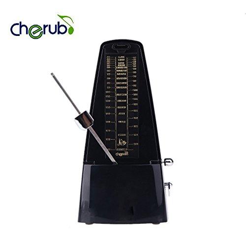 ekugo (TM) Cherub Metronom wsm-330Winde Mechanismus, Hohe Genauigkeit Universell für Gitarre Bass Klavier Violine Schwarz Top Qualität