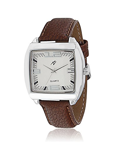 Yepme Men's Analog Watch – White/Brown