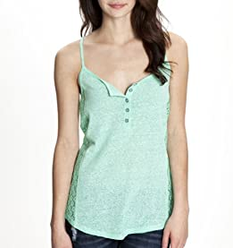 Lace Pieced Jersey Cami