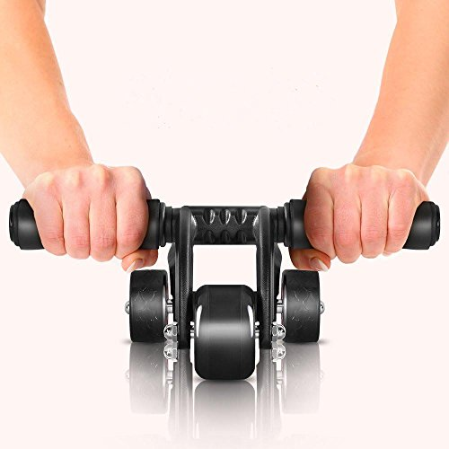 Kingsmith 3 wheel ab roller for abdominal exercise with for Floor ab workouts