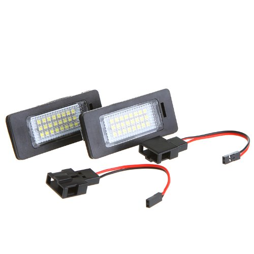 Tomtop Pair Error Free 24 Leds 3528 Smd Led License Plate Light Lamp Bulb For Audi Tt Q5 A4 A5 S5