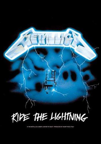 Bandiera Metallica-Ride the Lightning musica posterflaggen-dimensioni 75x 110cm