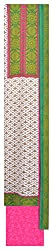 Mahek Fashion Women's Silk Unstitched Dress Material (Pink, Green and White)