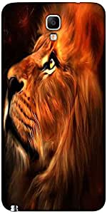 Snoogg Lion Hearted Case Cover For Samsung Galaxy Note Iii Neo / Note 3 Neo