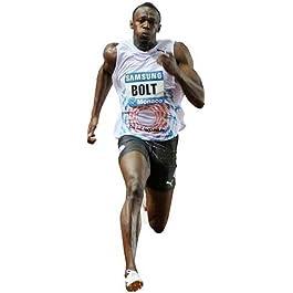 Recorte Cartón Usain Bolt Tamaño Real De Pie Envío Gratis RU
