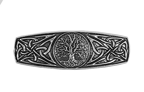 World Tree Hair Clip | Hand Crafted Metal Barrette Made in the USA with imported French Clips By Oberon Design ...