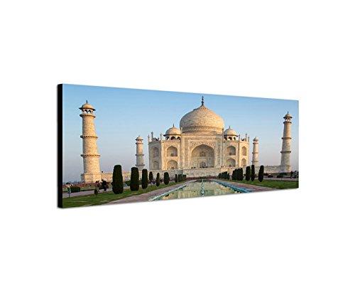 stampa-su-tela-come-panorama-in-150-x-50-cm-india-taj-mahal-acqua-mirroring
