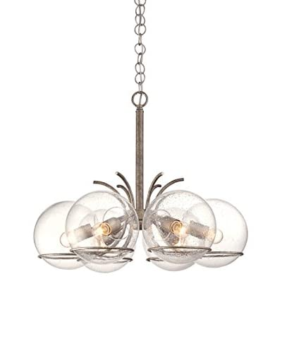 Varaluz Watson 6-Light Ceiling Lighting, Silver Age/Clear
