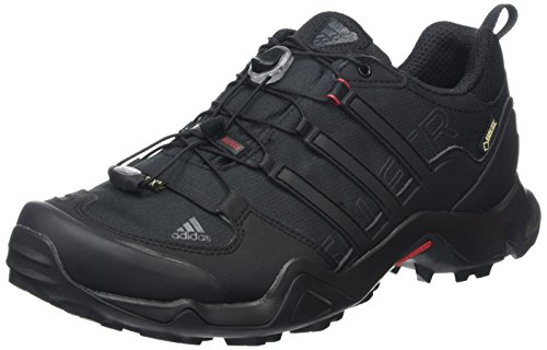 adidas Terrex Swift R Gtx, Scarpe da Arrampicata Basse Uomo, Nero (Core Black/Dark Grey/Power Red), 45 1/3 EU
