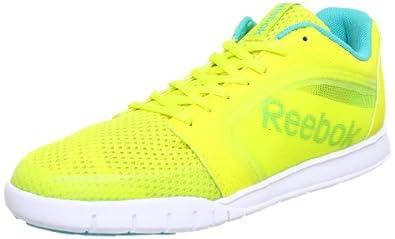 Reebok Womens DANCE URLEAD Ballroom Yellow Gelb (SOLAR GREEN/SOLID TEAL/WHITE/BLACK) Size: 4 (37 EU)