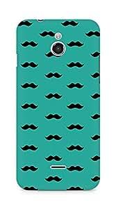 Amez designer printed 3d premium high quality back case cover forInfocus M2 (greenish blue moustache muchi beard)